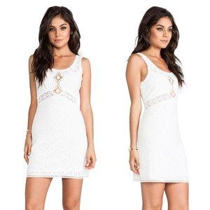 Free People Daisy Chain Shift Dress White Lace 325
